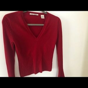 Autumn Cashmere cherry red sweater